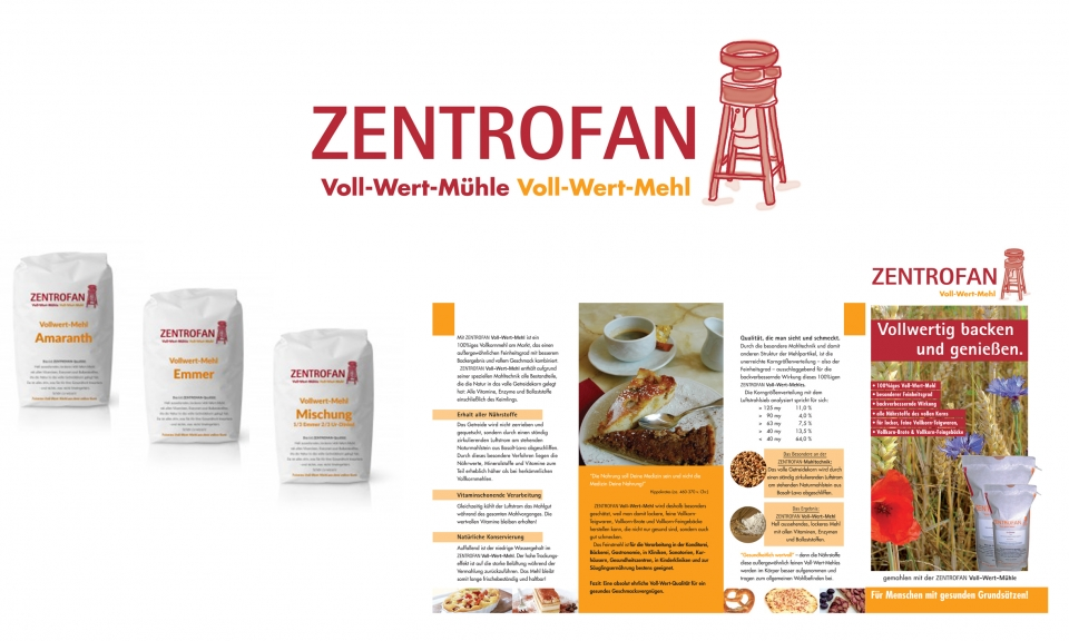 ZENTROFAN MÜHLE - Marketing und Strategie zur Markenbildung von KONTUR. Marketingkonzept. Logoentw